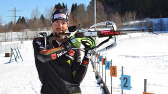Philipp Nawrath beim Training in Nesselwang